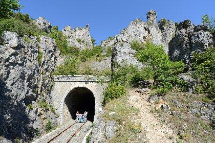 Sur les Rails du Larzac: train touristique et vélorail
