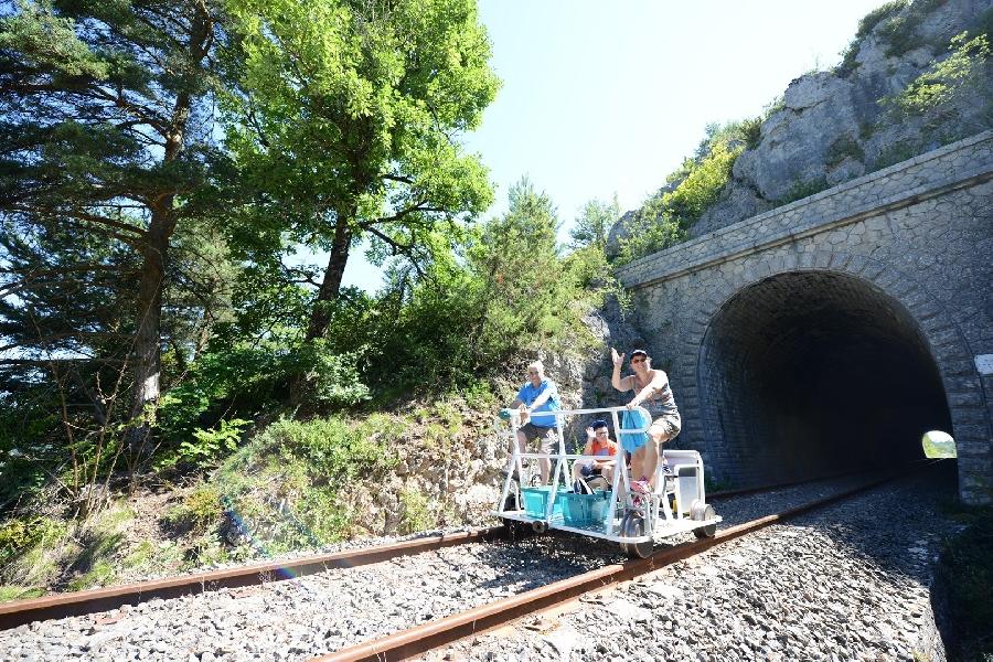 Vélorail et Train Touristique du Larzac