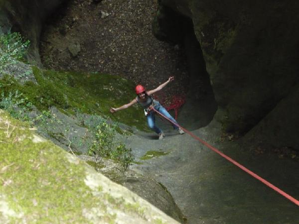 Causses Émotions - canyon sec et descente en rappel