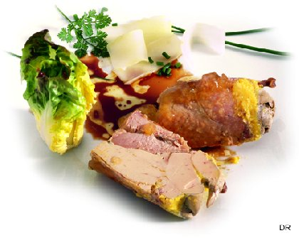 La caille au foie gras, spécialité du Manoir Alexandre, Comité Départemental du Tourisme de l'Aveyron