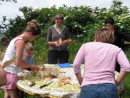 Dégustation des produits issus de l'élevage de canard, SYNDICAT D'INITIATIVE DE VILLEFRANCHE DE PANAT