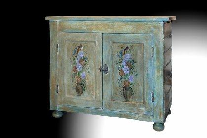Janet BAUDEVIN, Peintures sur meubles, OFFICE DE TOURISME INTERCANTONAL SAINT GENIEZ  / CAMPAGNAC