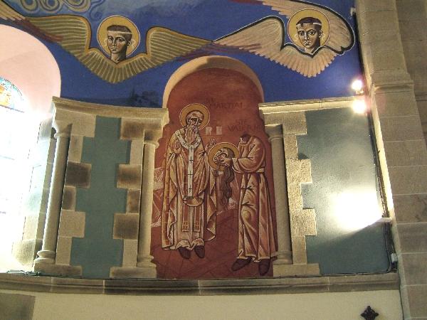 Visite de l'Eglise St Martial à Lagarde - Fresques de N. GRESCHNY