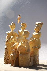 Sculpture sur bois - Jean-Pierre CAEN,