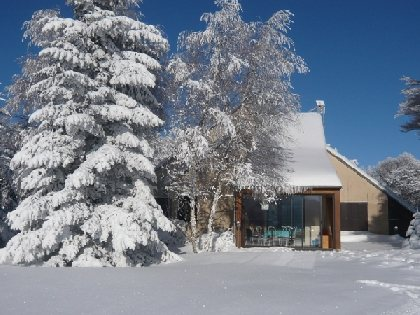 Chalet sous la neige, OFFICE DE TOURISME DE LAGUIOLE