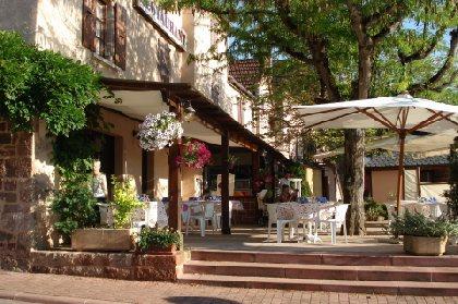 L'Auberge Aux Portes de Conques - Terrasse, BOUSSARD Christophe