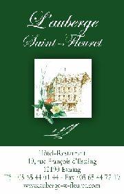 Auberge Saint Fleuret - Carte de visite, Auberge Saint Fleuret