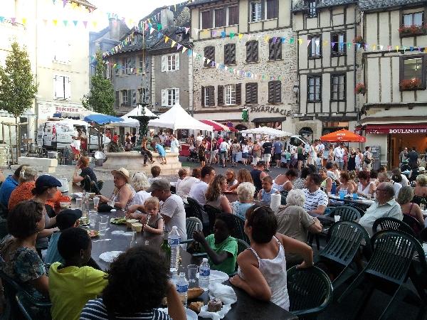 Marché nocturne du 28 juillet à St Geniez d'Olt - date sous réserve