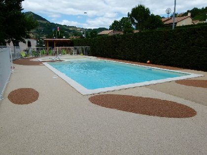 piscine, CAMPING LARRIBAL