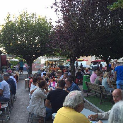 Marché nocturne avec Mercadou du Larzac
