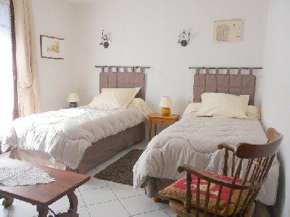 Chambre - deux lits simples - 1er étage, Chambres d'hôtes Lou Bellut