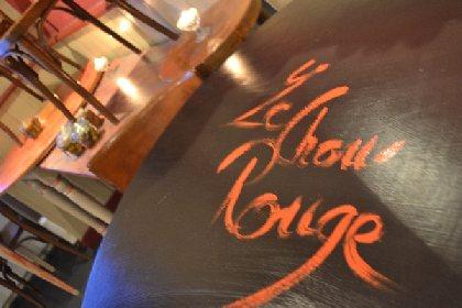 Repas New Beaujolais au restaurant le chou rouge à Entraygues