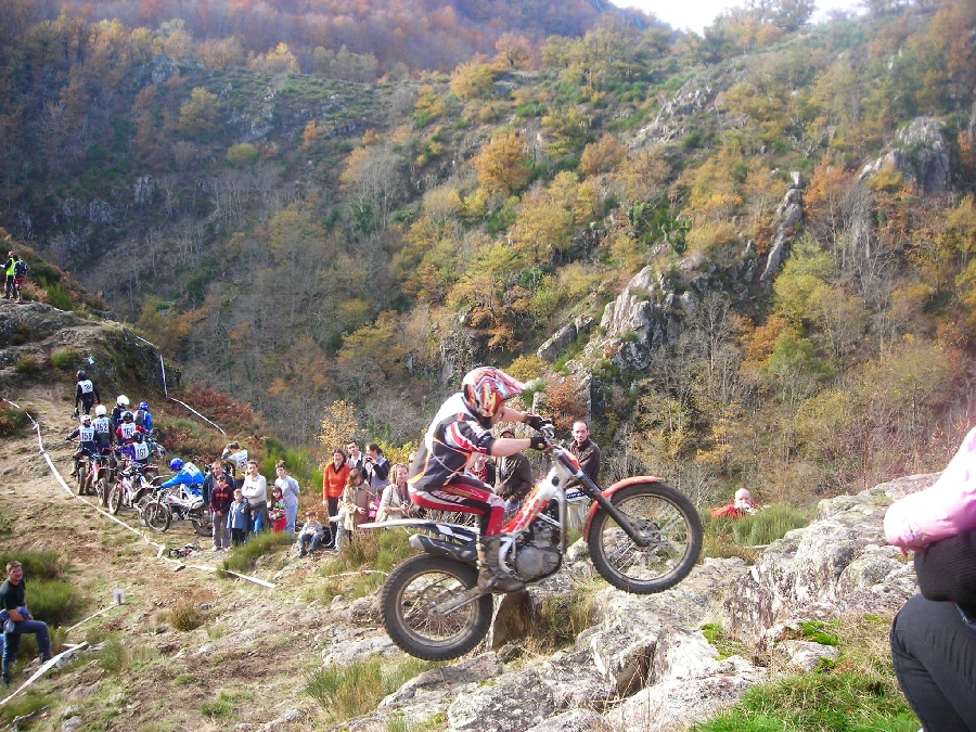 Course moto trial les 3 jours de la Truyère