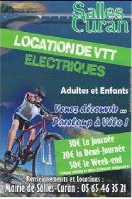 Location de VTT électriques à Salles-Curan